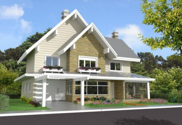 Wembley House - Casa 3 Dorm, Planalto, Gramado (MF16907)
