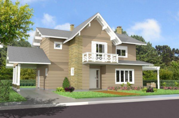 Wembley House - Casa 3 Dorm, Planalto, Gramado (MF16907) - Foto 2