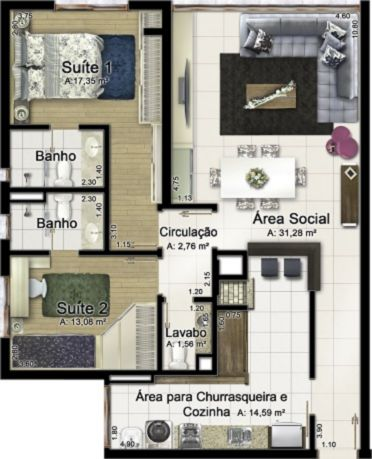 Morada de Anemos - Apto 2 Dorm, Rio Branco, Porto Alegre (MF19278) - Foto 4