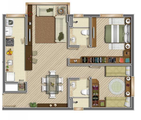 Apartamentos de 1 dormitório em Cidade Baixa, Porto Alegre - RS