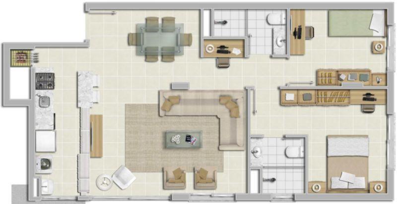 Apartamentos de 1 dormitório em Menino Deus, Porto Alegre - RS
