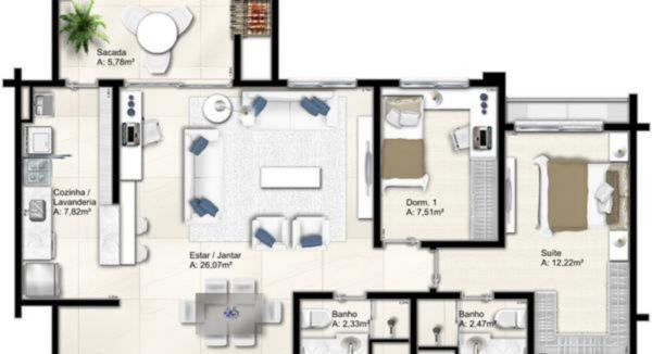 Apartamentos de 3 dormitórios em Vila Jardim, Porto Alegre - RS