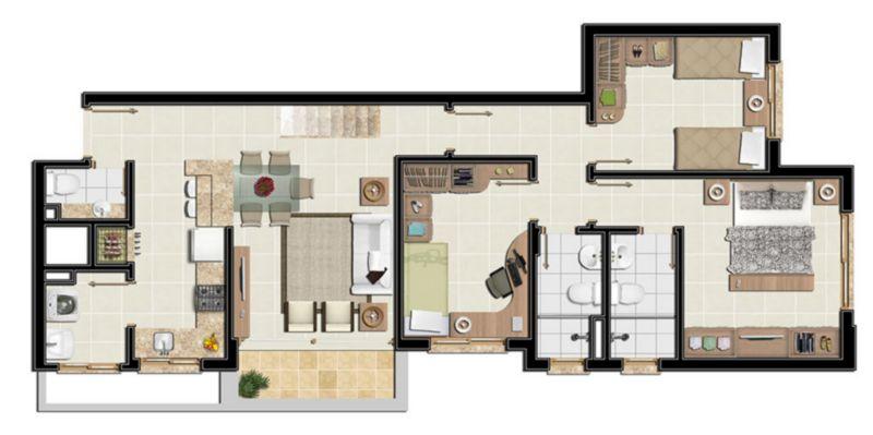 Coberturas de 2 dormitórios em Santo Antonio, Porto Alegre - RS