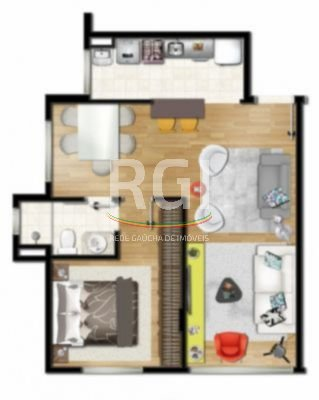 Apartamentos de 2 dormitórios em São José, Porto Alegre - RS